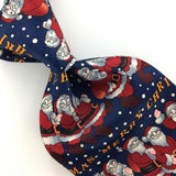ANONYMOUS LIGHT WEIGHT SANTA NAVY BLUE Christmas Men's Necktie tie #XP2-263 New