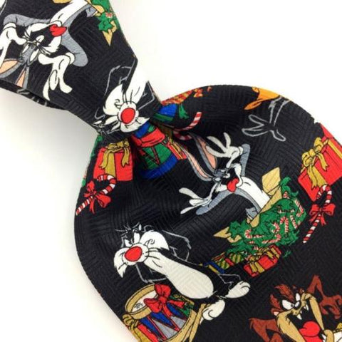LOONEY TUNES BLACK WHITE Christmas Men's Necktie tie #XP2-258 New