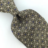 GEOFFREY BEENE US MADE FLORAL GEOMETRIC GRAY BLUE Silk Men Necktie I1-80Ties