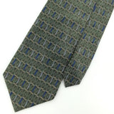 DOCKERS Geometric Olice Green Gray BLUE Silk Men Necktie I1-14 Excellent Ties