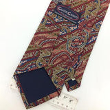 CLASSIC CRAVATS USA TIE ART NOUVEAU MAROON/Red Brown Silk Necktie Ties I7-795