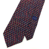 XL 61'' MUSEUM OF FINE ARTS BOSTON TRIANGLE Cross NAVY BLUE Silk Necktie I8-415
