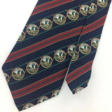 EARTHLY GOODS USA TIE GOLF GOLFING IN 50S Stripe Red Green Silk Necktie I7-570
