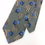 NIK NIK US TIE GRAY GEOMETRIC GRAY Brown BLUE Silk Necktie I7-758 Ties