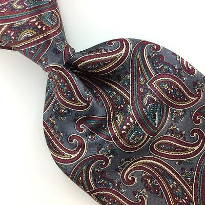 LUCA FRANZINI NECK TIE MADE IN ITALY Ancient Madder GLOSS Gray Brown Silk I7-135