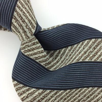 CLAIBORNE Made In USA TIE BLACK GRAY BROWN STRIPED Necktie I7-745 Ties