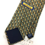 COCKTAIL COLLECTION USA TIE BEIGE SHAPES  Silk Necktie Excellent Ties I8-299