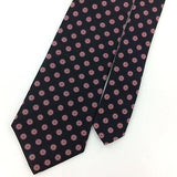 VINTAGE HASTINGS Skinny TIE VIOLET ANCIENT MADDER BLACK Silk Necktie IS8-87 Ties