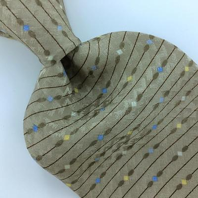 ALEXANDER JULIAN COLOURS US TIE STRIPED BEIGE/BROWNISH Silk Necktie Ties I7-902