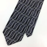 PURITAN TIE GRAY BLACK GEOMETRIC STRIPED Silk Necktie Ties I7-709 New
