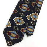 Puritan Cheroki Tribe Art Deco Gold Black Maroon Silk Necktie Ties H3-494 New