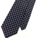 VINTAGE HATHAWAY NARROW Dark/Gray White GEOMETRIC Silk Necktie IS8-434 Ties