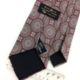VINTAGE COUNTESS MARA TIE Ancient Madder  BROWN Silk Necktie Ties I8-62
