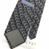 GEOFFREY BEENE USA TIE GRAY BLACK GEOMETRIC Silk Necktie Excellent Ties I7-653