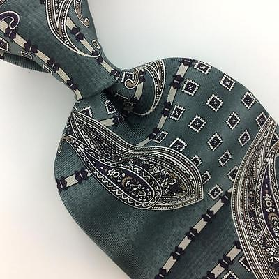 STAFFORD USA TIE PAISLEY Dark/Green CLASSIC Silk Necktie Excellent Ties I7-887