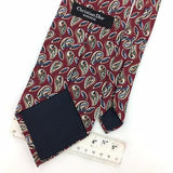 CHRISTIAN DIOR USA TIE MAROON RED Green PAISLEY Silk Necktie Ties I7-658