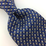 VAN HEUSEN TIE BLUE Gray CROSS LINKED Stripes Silk Necktie Ties I7-444 New