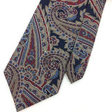 MORGAN HART TIE US MADE Floral Brocade BLUE Beige CLASSIC Silk Necktie I7-344