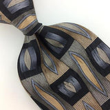 COCKTAIL COLLECTION TIE GRAY HANDMADE Checkered Silk Necktie Ties I7- 440 New