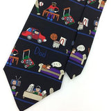 SAVE THE CHILDREN TIE DADS HOBBIES Car Basketball TV Office Silk  N4-157 New