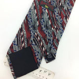 BLACK SMITH USA TIE MAROON BLACK BLUE STRIPED ABSTRACT Silk Necktie Ties I7-810