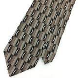 "XL 60"" STAFFORD TIE GEOMETRIC Dots BEIGE Brown HANDMADE Silk Necktie Ties I7-287"