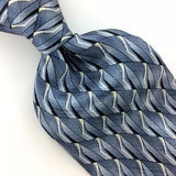 STAFFORD Made In USA TIE GEOMETRIC SKY/BLUE Silk Necktie Excellent Ties I7-654