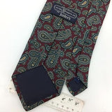 VINTAGE JACOBS ROBERTS USA Ancient Madder MAROON Gray Silk Necktie Ties I8-46