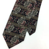 DIMITRIUS TIE GRAY Brown Black ART DECO Floral Paisley Silk Necktie Ties I8-291