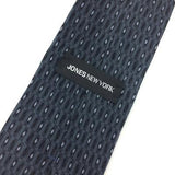 JONES NEW YORK Tie GRAY BLACK Micro Geometric DIAMOND Silk Necktie H3-475 New