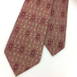 HOUSE OF STUART ABSTRACT Geometric MAROON Silk Necktie Excellent Ties I8-351