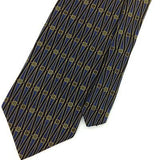 CAMBRIDGE CLASSICS USA GEOMETRIC Circles Gold BLUE Silk Necktie Ties I7-882