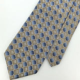 JOSEPH & FEISS BEIGE SKY/BLUE Square Checkered HEAVY Woven Neck Tie H1-302 New