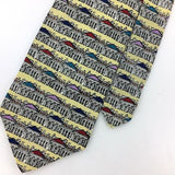 ARCHIFETTI TIE YELLOW WHITE HOUSE President Silk Washington Necktie N4-264 New