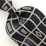 STAFFORD USA TIE GEOMETRIC Diamond BROWN Gray  BLACK Silk Necktie Ties I8-251