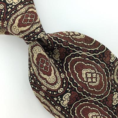 VINTAGE DAVID LAWRENCE ITALY Tie NARROW Ancient Madder Brown Necktie I3-39