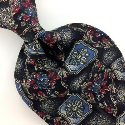 American Traditions USA Made Floral Blue Red Gray Silk Necktie Ties H3-488 New
