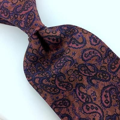 ACCUCY TIE PAISLEY BROWN NARROW ANCIENT MADDER Silk Necktie Ties I8-14F New