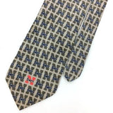 RM SPORT TIE UNIVERSITY OF NABRASKAT GREY Silk Necktie N4-215 Excellent Novelty
