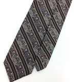 LIBERTY OF LONDON TIE ENGLAND SKINNY ANCIENT MADDER Brown Short Necktie I7-259