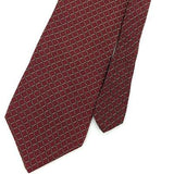 NAUTICA TIE MAROON BLACK GRID STRIPED Silk Necktie Excellent Ties I7-873