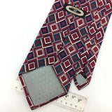 ADOLFO COUTURE USA Square MAROON/RED Gray BLUE Silk Necktie Ties I8-338