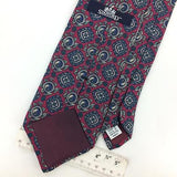 VINTAGE STAFFORD USA TIE MAROON/RED FLORAL CLASSIC Silk Necktie Ties I7-804