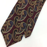 VINTAGE MEETING STREET USA TIE MAROON Purple Ancient Madder Silk Necktie I7-606