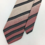 VINTAGE XL 62'' JACQUES ESTIER MADE IN ITALY Classic STRIPED Silk Necktie I8-417