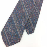 Vtg MICHAEL REED TIE SKY/BLUE Peach NARROW Ancient Madder Silk Necktie I7-755