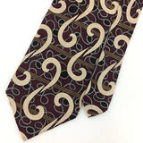 URBAN CANVAS TIE USA MAROON ABSTRACT Swirl Silk Necktie Excellent Ties I7-120
