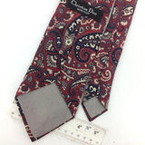 CHRISTIAN DIOR TIE Ancient Madder MAROON/Red Gray NARROW Silk Necktie Ties I7-79