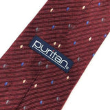 Puritan Tie Dark/Red Blue Micro Stripe Diamond Silk Necktie Ties H3-477 New