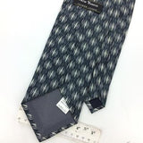 New Yorker Tie Vivid Black Silver Gray Woven Diamond Art Necktie Ties H3-471 New